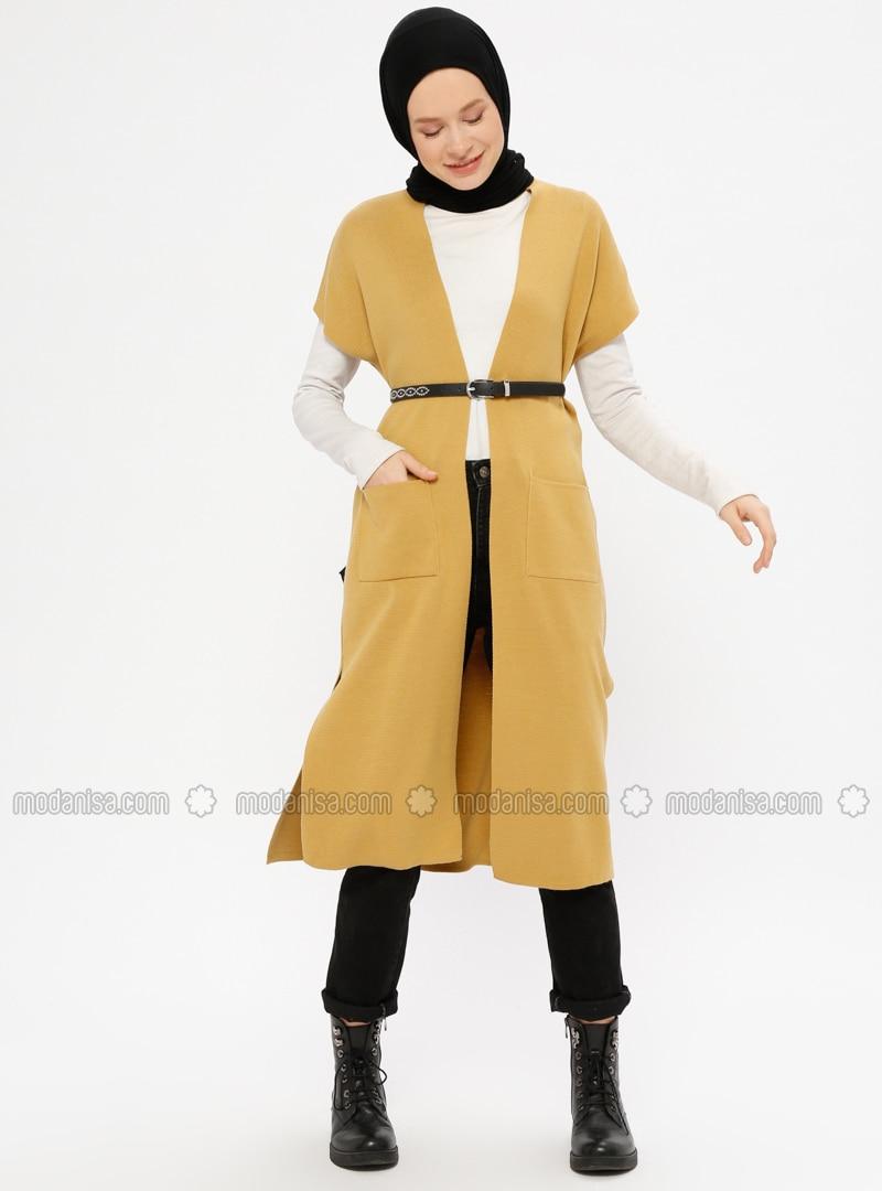 Camel - Unlined - Acrylic -  - Vest