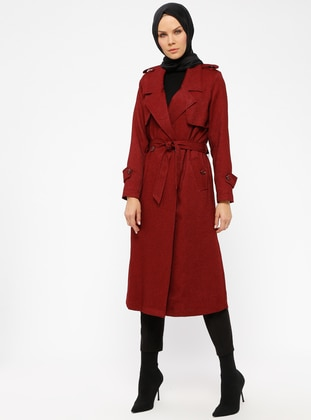 Maroon - Fully Lined - Shawl Collar - Topcoat