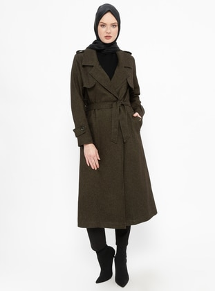 Khaki - Fully Lined - Shawl Collar - Topcoat