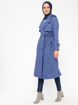 Blue - Fully Lined - Shawl Collar - Topcoat