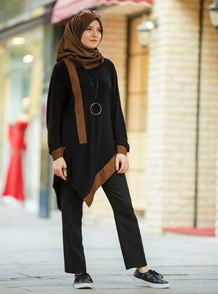 Hilal Tunik - Kahverengi Siyah - An-Nahar Ürün Resmi