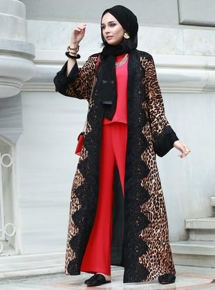 Black - Leopard - Abaya