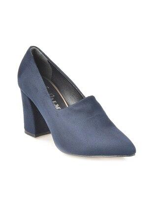 Vizon Topuklu Ayakkabı - Lacivert