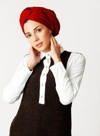 White - Brown - Point Collar - Cotton - Tunic