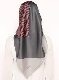 Dusty Rose - Printed - Digital Printing - Scarf - Renkli Butik