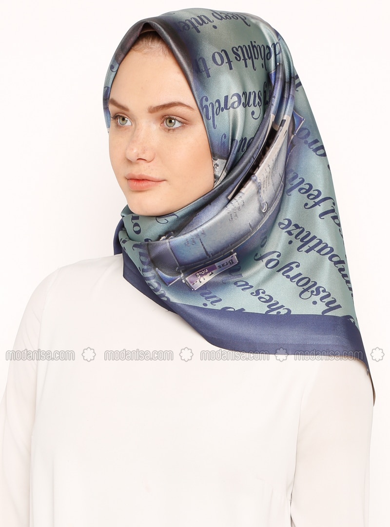 Gray - Printed - Digital Printing - Scarf