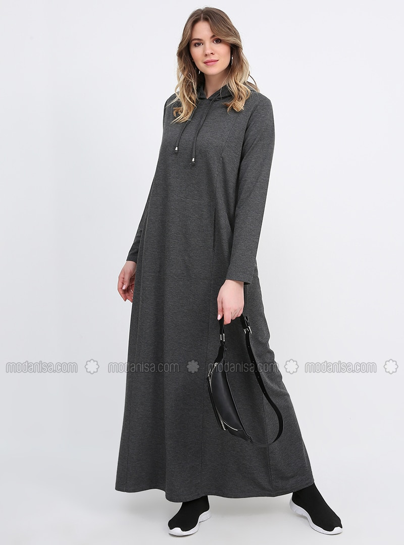 Anthracite - Unlined - Plus Size Dress