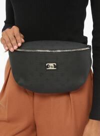 Black - Clutch - Bum Bag - Pierre Cardin