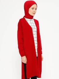 Red - Acrylic -  - Cardigan