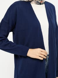Navy Blue - Acrylic -  - Cardigan