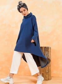 Polo neck - Multi - Saxe - Sweat-shirt