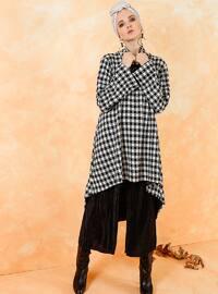 Polo neck - Stripe - Black - Sweat-shirt