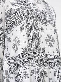 Ecru - Ethnic - Crew neck - Cotton - Tunic