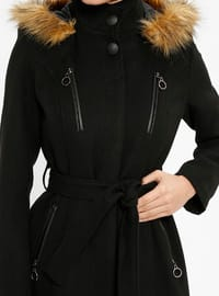Black - Fully Lined - Polo neck - Coat