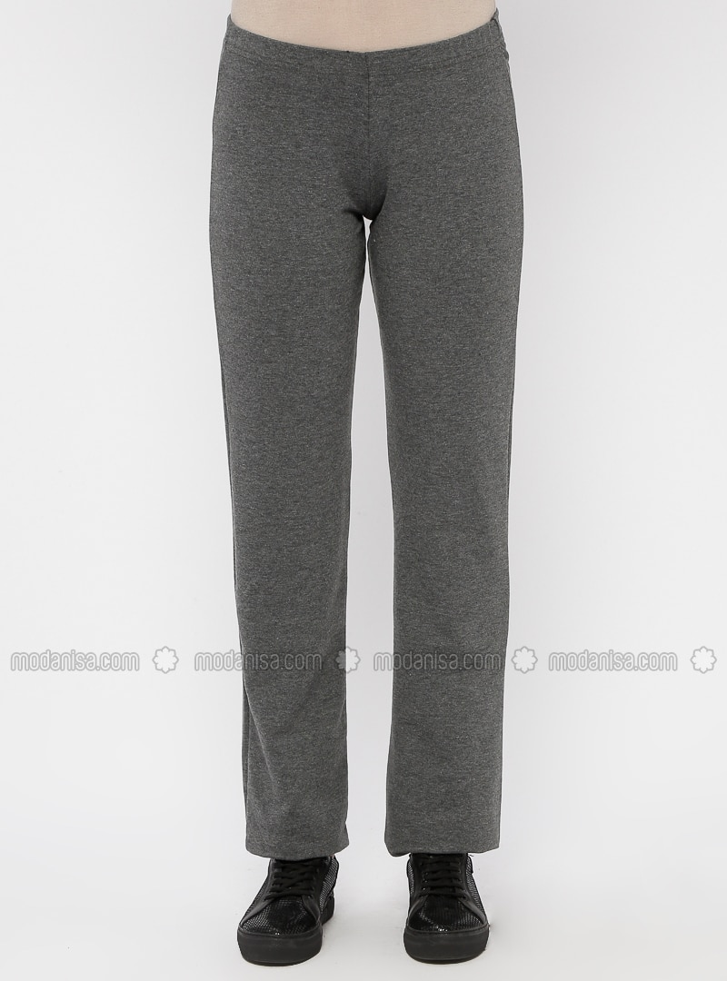 44d883b6f99 Gray - Anthracite - Cotton - Polo neck - Tracksuit Set