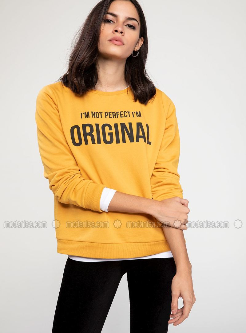 Yellow - Sweat-shirt