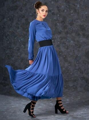 Indigo - Crew neck - Fully Lined - Dresses