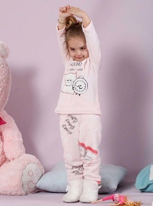 Powder - Crew neck - Multi - Cotton - Kids Pijamas - Siyah inci