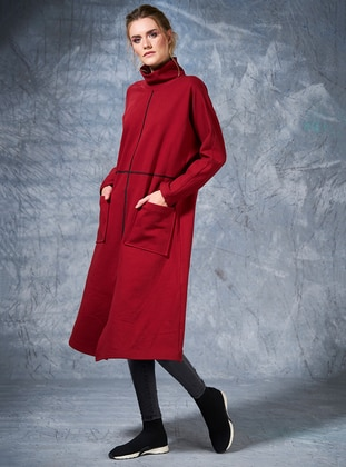 Polo neck - Maroon - Sweat-shirt