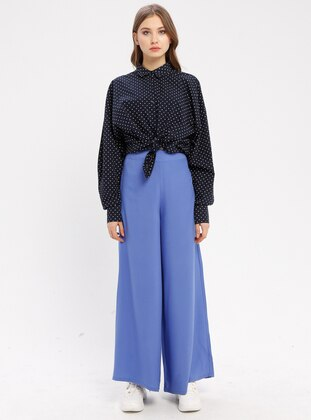 Blue - Indigo - Viscose - Pants