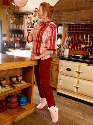 Red - Multi - Cotton - Pyjama