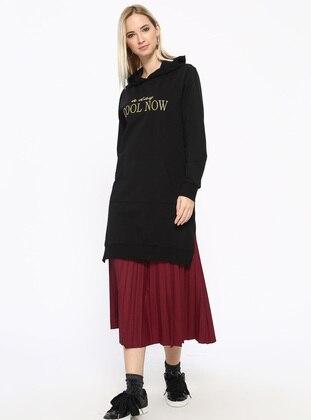 Cotton - Black - Sweat-shirt
