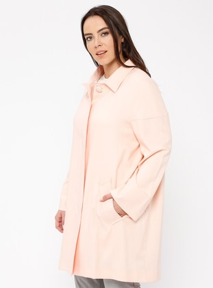 Pink - Unlined - Point Collar - Linen - Jacket