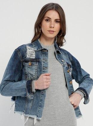 Denim Jackets Shop Women S Jackets Modanisa