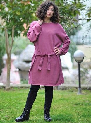 Pink - Crew neck - Knitwear - Minimal Moda