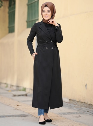 Black - Fully Lined - Shawl Collar - Topcoat