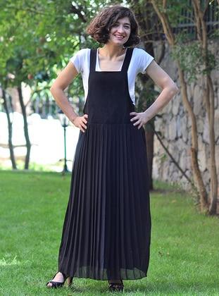 Black - Sweatheart Neckline - Unlined - Dresses
