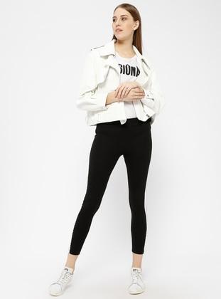 Black - White - Legging