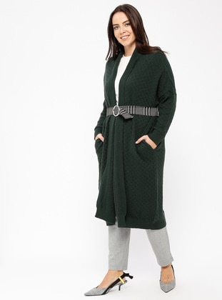 Green - Wool Blend - Viscose -  - Knitwear - Minimal Moda