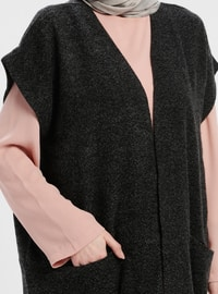 Anthracite - Unlined - Acrylic -  - Vest