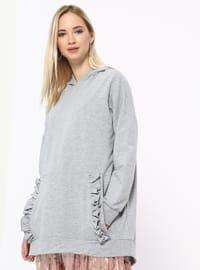 Cotton - Gray - Sweat-shirt