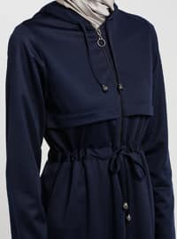 Navy Blue - Unlined - Abaya