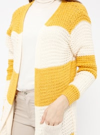 Mustard - Stripe - Acrylic -  - Cardigan