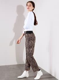 Black - Beige - Zebra - Pants
