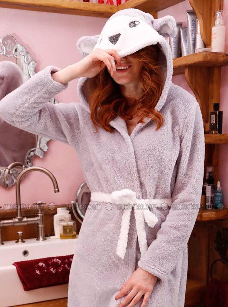 Gray - Cotton - Morning Robe