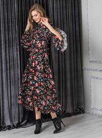 Black - Printed - Dresses