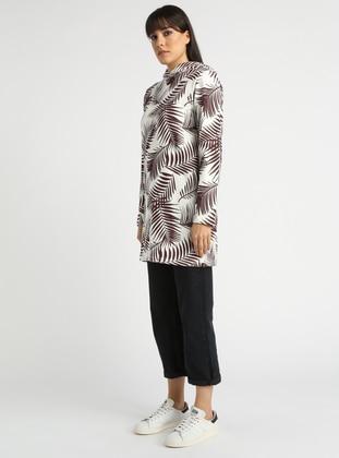 Ecru - Multi - Cotton - Tunic