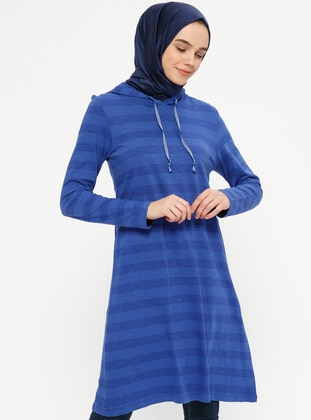 Saxe - Stripe - Cotton - Tunic