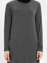 Anthracite - Polo neck - Tunic