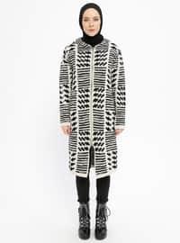 Black - Beige - Multi - Acrylic -  - Cardigan