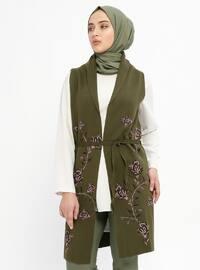 Khaki - Unlined -  - Vest