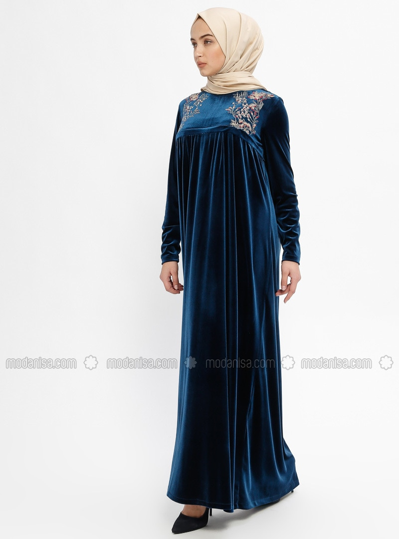 Petrol - Crew neck - Unlined - Dresses