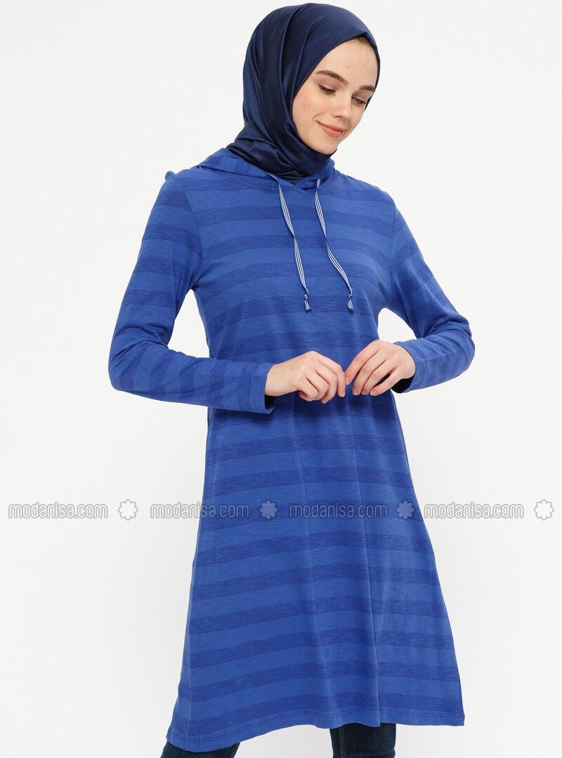 Saxe - Stripe - Cotton - Tunic