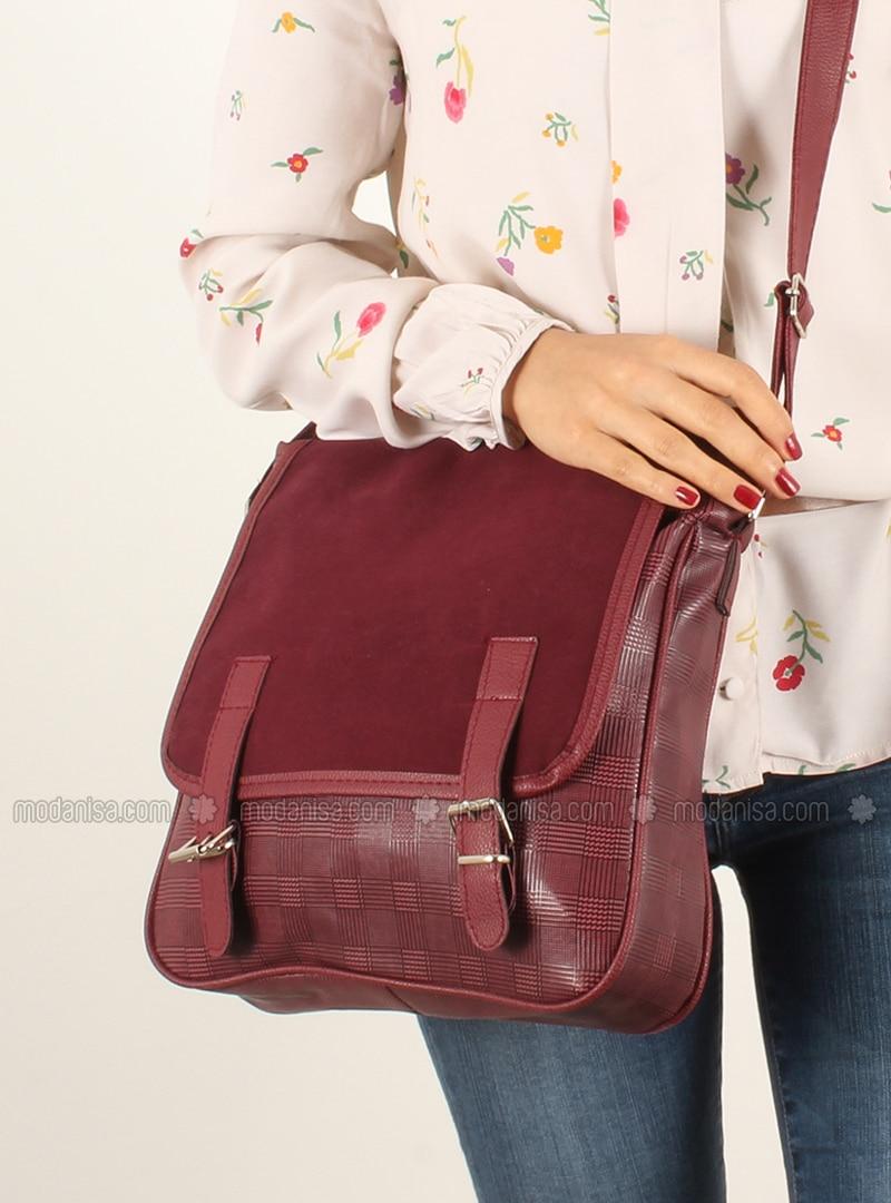 Maroon - Shoulder Bags - Luwwe