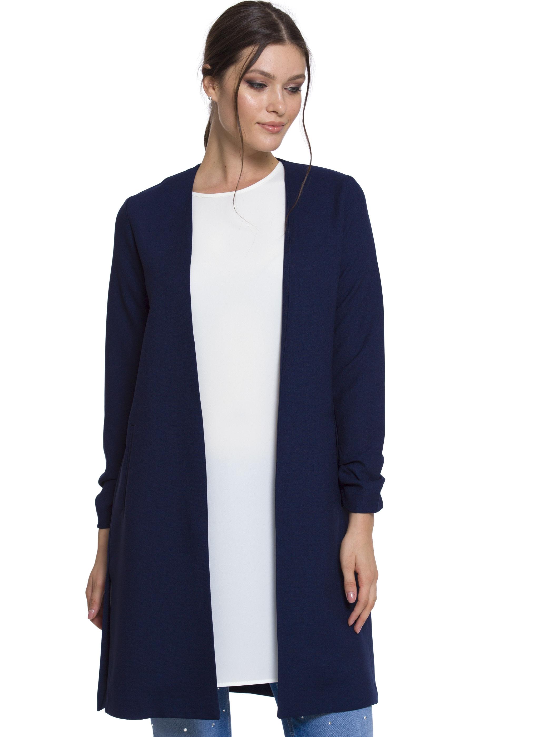 Tesettür Ceket LC WAIKIKI Lacivert Kadın 34