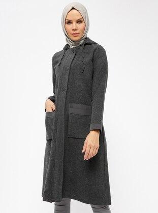 Smoke-coloured - Unlined - Topcoat